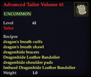 Advanced Tailor Volume 61