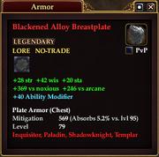 Blackened Alloy Breastplate (79)