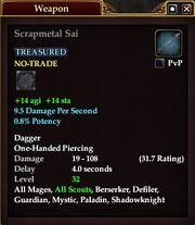 Scrapmetal Sai