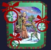 Decorative Frostfell Wishes Greeting Card (Visible)