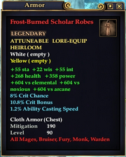 Frost-Burned Scholar Robes