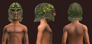 Emerald Flame Helm (Equipped)