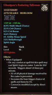 Ghostpaws Enduring Talisman
