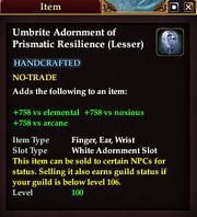 Umbrite Adornment of Prismatic Resilience (lesser)