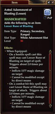 Astral Adornment of Blasting (Lesser)