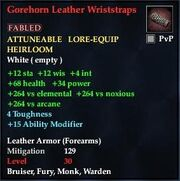 Gorehorn Leather Wriststraps