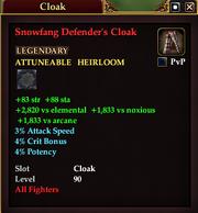 Snowfang Defender's Cloak