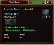 Lucanic Healer's Amulet