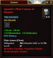Apostle's Plate Cuirass of Resolve