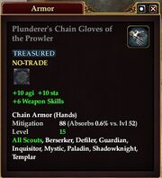 Plunderer's Chain Gloves of the Prowler