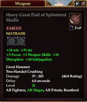 Heavy Great Flail of Splintered Skulls
