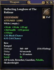 Deflecting Longbow of the Retinue