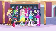 Twilight's friends walk towards her EG