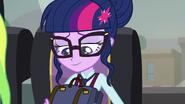 Twilight unzipping her backpack EG3