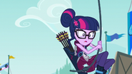 Sci-Twi swinging from a rope EG3