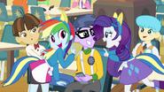 Rainbow and Rarity singing together EG