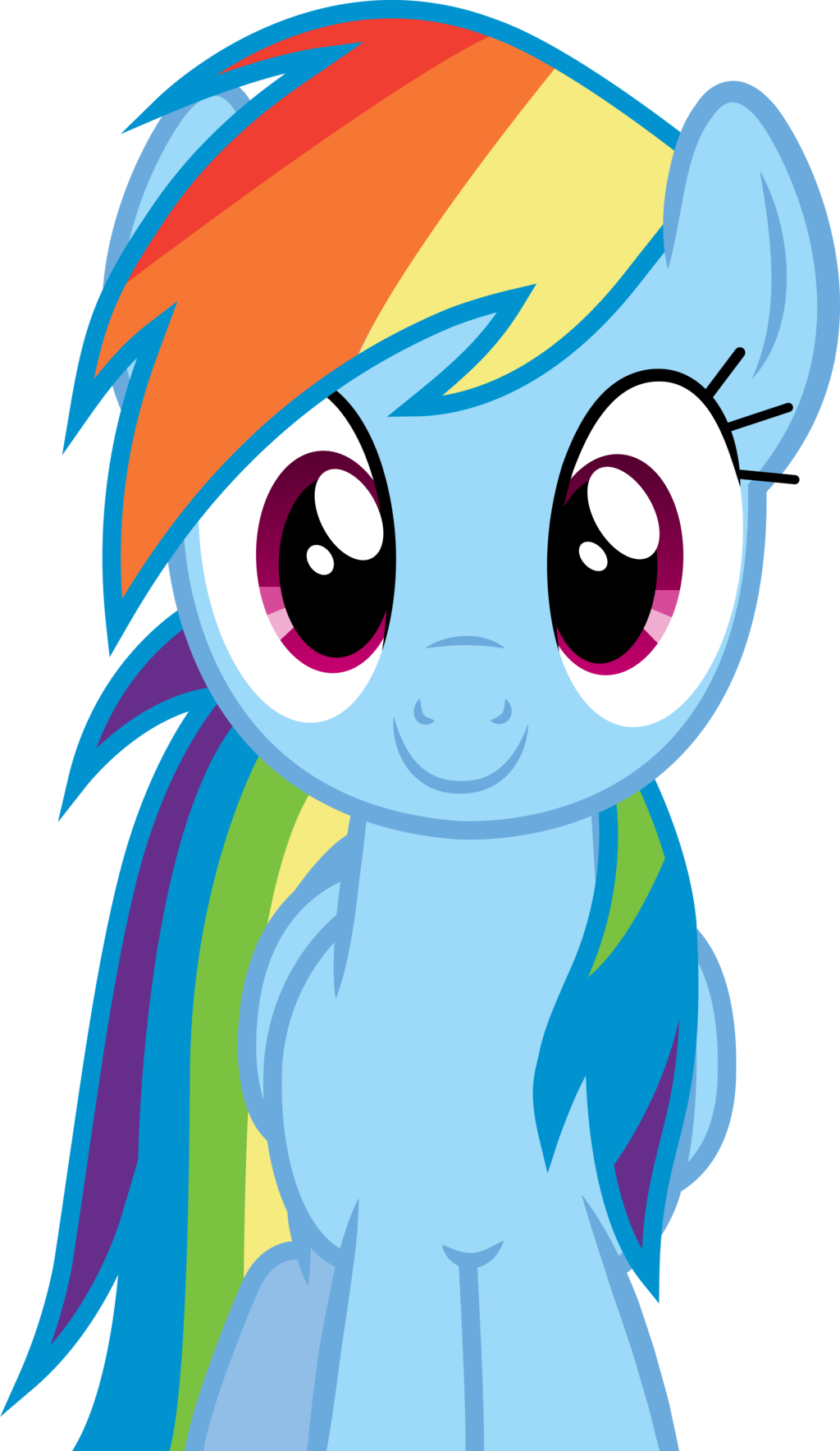 Image - FANMADE Rainbow Dash smiling.png   My Little Pony ...