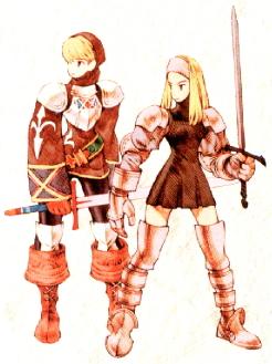 Hombre y mujer como Escuderos