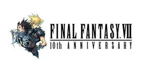 El logo del Final Fantasy VII 10th Anniversary.