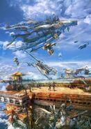 Ilustración Aeronaves FFXII