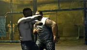 Luis en un club de pelea