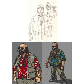 Bocetos de Steve.