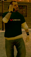 Hombre con camiseta de Crevis