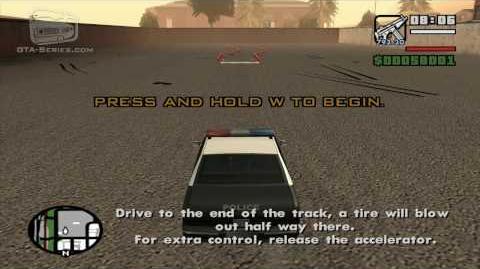 Autoescuela de coches - Pinchazo y control