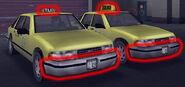 Comparación de taxis de GTA III