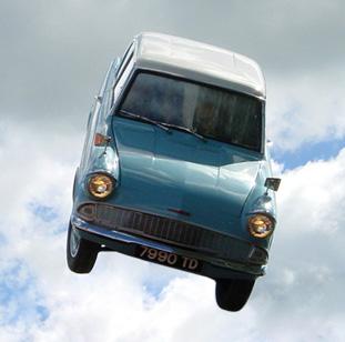 Resultado de imagen de coche volador harry potter