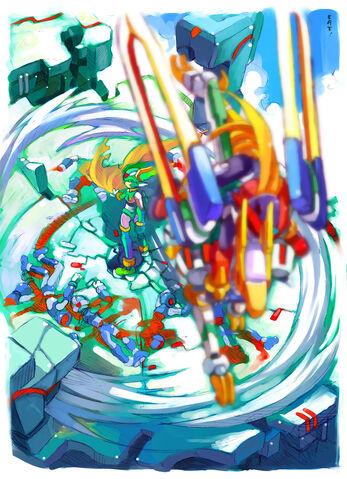 Archivo:Rockman Zero No title by CATLQE.jpg