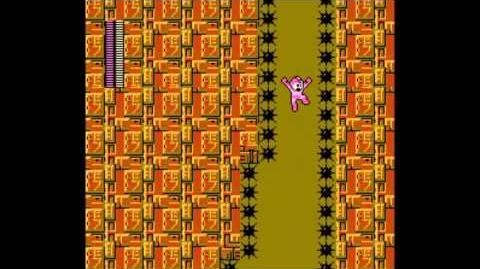 Mega Man II NES Playthrough 11, Skull Castle, Stage 3 Guts Dozer