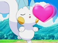 EP488 Pachirisu usando beso dulce