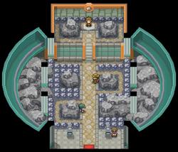 Interior del Gimnasio de Ciudad Plateada en los videojuegos