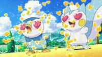 EP607 Piplup y Pachirisu enamorado