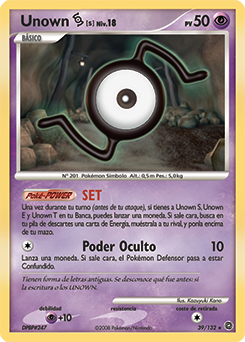 Carta de Unown