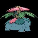 Imagen posterior de Mega-Venusaur en la sexta generación