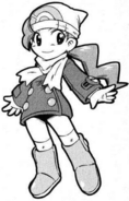 Mitsumi con traje de platino