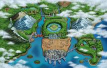 Ilustración de Teselia en Pokémon Negro y Pokémon Blanco