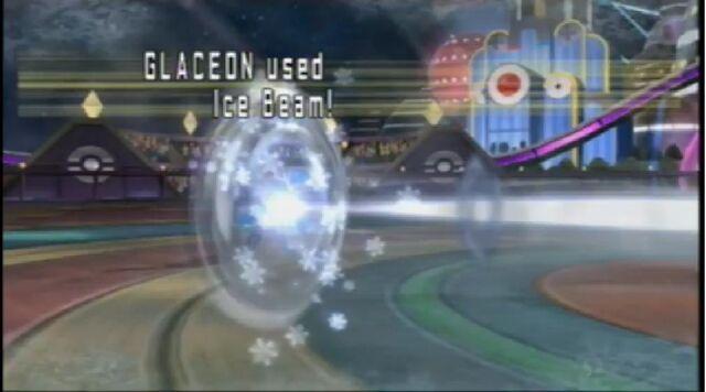 Archivo:Glaceon usando rayo hielo.jpg