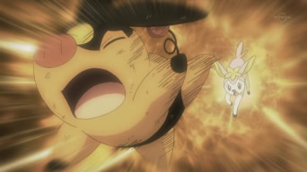 Archivo:EP664 Tepig atacado por un Shikijika.jpg