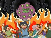 Archivo:EP525 Spiritomb atormentando a los habitantes de la aldea en la leyenda.png
