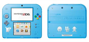 Nintendo 2DS Sol Luna azul claro