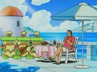 Archivo:EP476 Ludicolo acompañando a Giovanni en su almuerzo.png