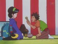 EP185 Brock convenciendo a Satsuki que le haga un capuchino