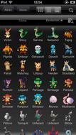 Pokédex for iOS (iPhone) Lista de Pokémon