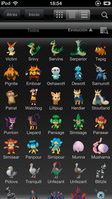Pokédex for iOS (iPhone) Lista de Pokémon