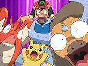 EP447 Ash Corphish Pikachu y Tauros.jpg