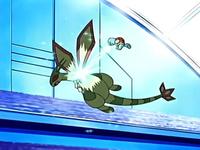 Archivo:EP459 Squirtle usando rayo hielo sobre Flygon.png