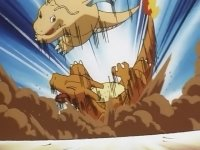 EP114 Dragonite azotando a charizard